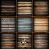 Colorful wooden planks collection — Stock Photo