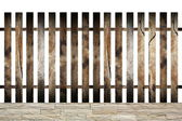 Isolated wood fence for your design — ストック写真