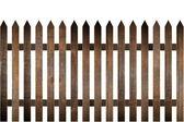 Landsbygdens trä staket — Stockfoto