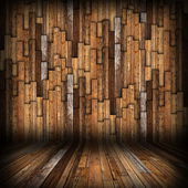 Brown  planks finishing on interior backdrop — Stockfoto