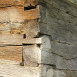 Exterior corner of traditional wooden church — Stock Photo