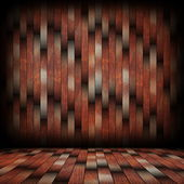 Striped pattern of wood planks on wall — Stock Photo