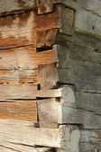 Wood beams on traditional wall — Stock Photo