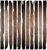 Old damaged wood planks on white — Stock Photo
