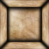 Abstract brown plaster room — Stock Photo