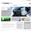 Gray Website Template 960 Grid. — Stock Vector #12425822