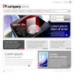 Gray Website Template 960 Grid. — Stock Vector #12425870