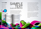 Colorful template for brochure — Stock Vector