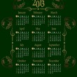 2013 Calendar. Vector Illustration - Stock Vector