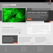 Gris plantilla de página web 960 grid. — Vector de stock