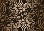 复古花卉明亮的复古设计背景 — 图库矢量图片