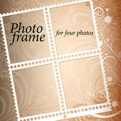 Vector photo frame on an abstract background — Stock Vector