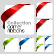 Stock Vector: Collection of Vector corner ribbons