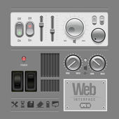 Web UI Elements Design Gray. — Stock Vector