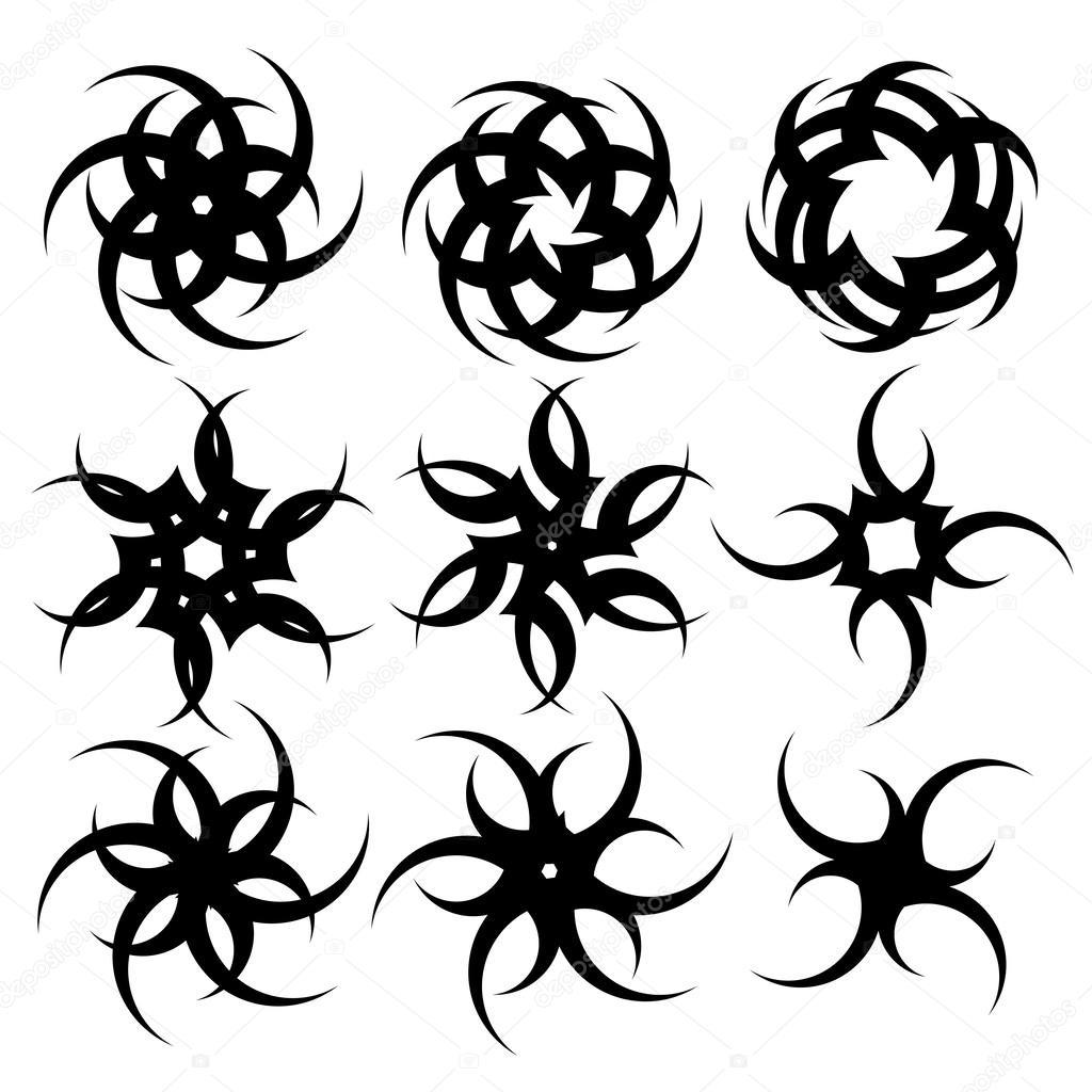 mod les pour le tatouage et design en forme de croix sur diff rents sujets image vectorielle. Black Bedroom Furniture Sets. Home Design Ideas