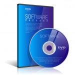 caso realista para disco dvd o cd — Vector de stock