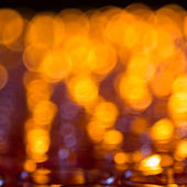 Bokeh of light candle in room — Stock Photo