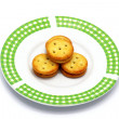 Biscuits pineapple fillings — Stock Photo #41262643