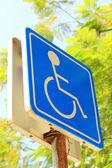 Sinal de pessoas com deficiência — Fotografia Stock
