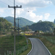 Road in a rural village in northern of Thailand. — Stock Photo #41287633