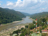 Salween river in Mae Hong Son province between Thailand and Myan — Foto de Stock