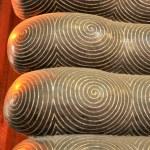 BANGKOK THAILAND - JAN 03 : The golden toes of Buddha, foot deta — Stock Photo #41322787