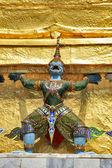 BANGKOK THAILAND - JAN 03 : Giant Buddha in Grand Palace, on Jan — Stock Photo