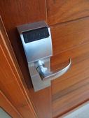 Electronic lock on door — Photo