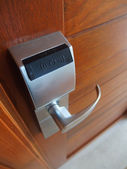 Electronic lock on door — Stok fotoğraf