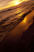 Colorful sunset over sea Pataya beach Thailand — Zdjęcie stockowe