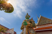 Demon Guardian at wat Arun in Bangkok Thailand — Stok fotoğraf