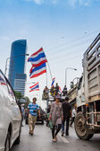 BANGKOK - FEBRUARY 20 :  Prime protesters evicted In front of Sh — Zdjęcie stockowe