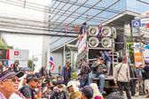 BANGKOK - FEBRUARY 20 :  Prime protesters evicted In front of Sh — Stock Photo
