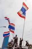Banguecoque - 20 de fevereiro: prime manifestantes despejados na frente do sh — Fotografia Stock