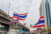 BANGKOK - FEBRUARY 20 :  Prime protesters evicted In front of Sh — 图库照片