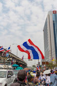 BANGKOK - FEBRUARY 20 :  Prime protesters evicted In front of Sh — Stockfoto