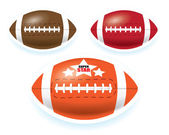 American football isolated on white background — Stock Vector