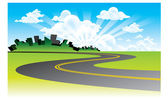 Background road vector — Stock Vector