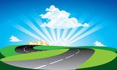 Arka yoldan vektör — Stok Vektör
