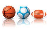 Sport bollar vektor — Stockvektor