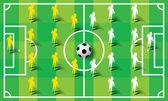サッカー サッカー形成ベクトル — ストックベクタ