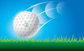 Illustration of golf ball vector — Stock Vector