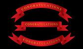 Ribbon Congratulations vector — Stock Vector