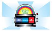 Social network concept vector — Stock Vector