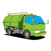 Garbage truck - Hand Drawn — Stock Vector
