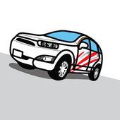 Car SUV - Hand drawn — Stock vektor