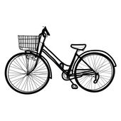 Bicycle - Hand drawn — Stock Vector
