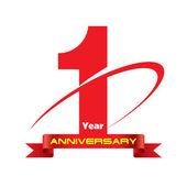 1 year anniversary creative concept vector — Stock Vector