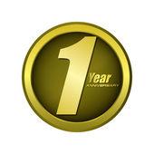 1 year anniversary creative concept vector — Vetorial Stock