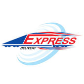 Express delivery concept vector — Stock Vector